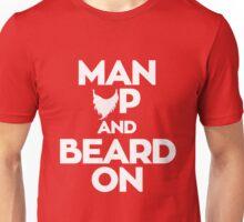 Man up and Beard on Unisex T-Shirt