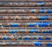 Rusty roll-down shutter by Arie Koene