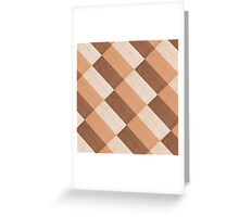 Checkered tablecloth  Greeting Card
