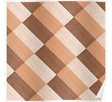 Checkered tablecloth  Poster