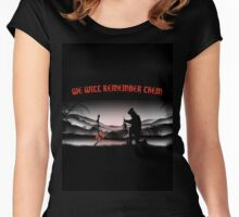WE WILL REMEMBER THEM Women's Fitted Scoop T-Shirt