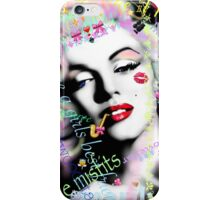 Marilyn with graffiti & diamonds iPhone Case/Skin