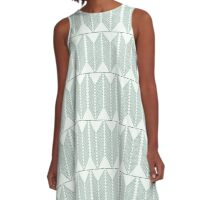 Knitting Needle & Crochet Hook Forest Nettles Chevron Pattern A-Line Dress