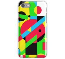 Playful geometric colorful design by Moma iPhone Case/Skin