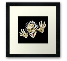 Albert Einstein Parody Framed Print