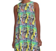 Starry night, Vincent graffiti mashup A-Line Dress