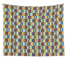 Beautiful Blue Red Pink Knit  Wall Tapestry