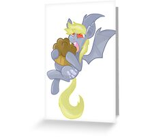 Derpy Bat Greeting Card