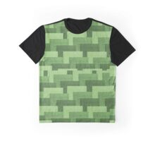 Multicolor Knitted Pattern Graphic T-Shirt