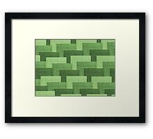 Multicolor Knitted Pattern Framed Print