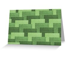Multicolor Knitted Pattern Greeting Card
