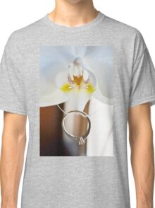 Wedding ring on the white Orchid Classic T-Shirt