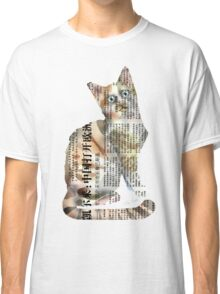 French Kitty on White Classic T-Shirt