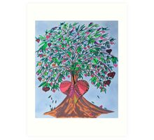Tree Of Hearts Art Print