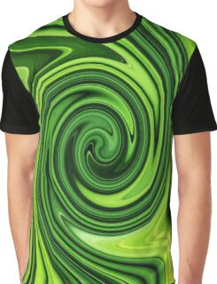 Green Grass Swirl Abstract Graphic T-Shirt