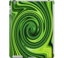 Green Grass Swirl Abstract iPad Case/Skin