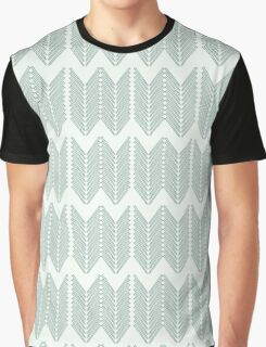 Knitting Needle Forest Nettles Chevron Pattern Graphic T-Shirt