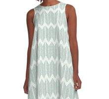 Knitting Needle Forest Nettles Chevron Pattern A-Line Dress