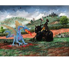 Slaying The Dragon Photographic Print