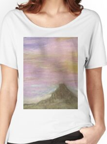 Pink Mountain Sky Women's Relaxed Fit T-Shirt
