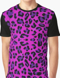 Purple Leopard  Graphic T-Shirt