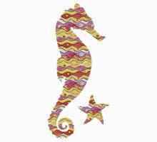Happy Ocean Pattern One Piece - Long Sleeve