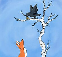 The fox and the crow by WulfFather
