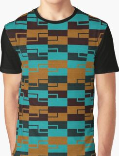 Fabric Color Tracery Graphic T-Shirt
