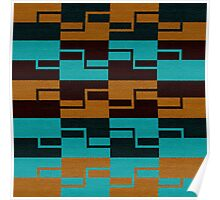 Fabric Color Tracery Poster