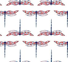 Dragonfly pattern by Rootedbeauty