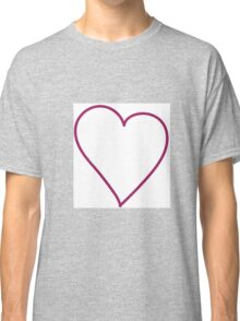 outline your heart Classic T-Shirt