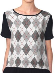 Vector with colorful hounds tooth Chiffon Top