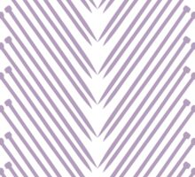 Knitting Chevron Pattern - Lavender Sticker