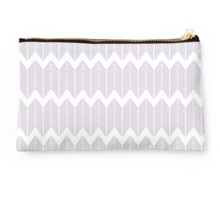 Knitting Chevron Pattern - Lavender Studio Pouch