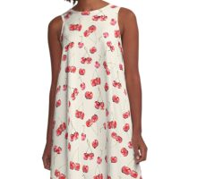 Cherry Pattern A-Line Dress