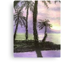 Palms against the Sunset Canvas Print