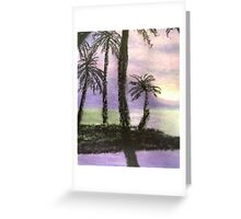 Palms against the Sunset Greeting Card
