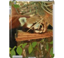 sleepy red panda  iPad Case/Skin