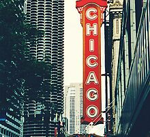 Chicago Theatre Sign by Kadwell