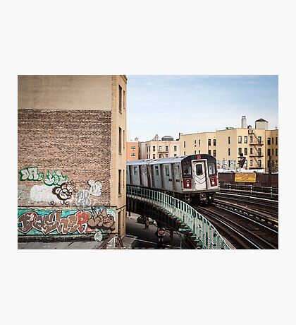 Incoming Number 2 Train Photographic Print