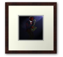 Blues in Black - Tenor Saxophone Framed Print