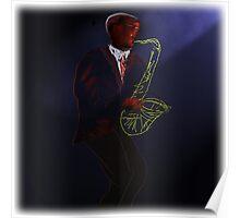 Blues in Black - Tenor Saxophone Poster