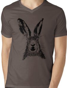 HARE BLACK T SHIRT Mens V-Neck T-Shirt