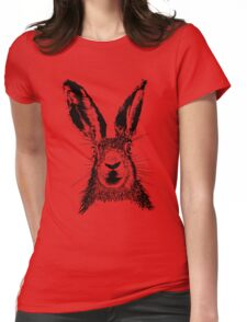 HARE BLACK T SHIRT Womens Fitted T-Shirt