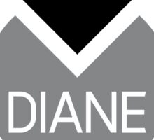 american first name female: Diane Sticker