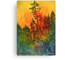 Forest Fire #5 Canvas Print