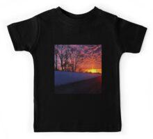 Winter Sunset Kids Tee