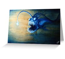 Angler Fish Deep Sea Creature - let me lure you in Greeting Card