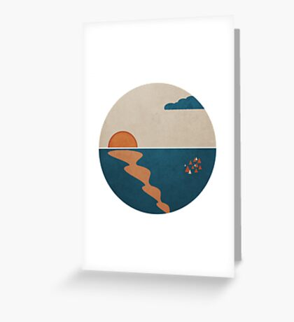 Simplistic Ocean Horizon  Greeting Card