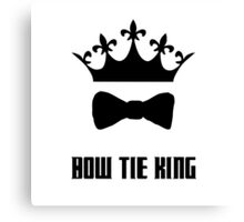 Bow Tie King Matt Smith Canvas Print